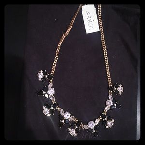 Brand new J Crew b/w crystal necklace NWT